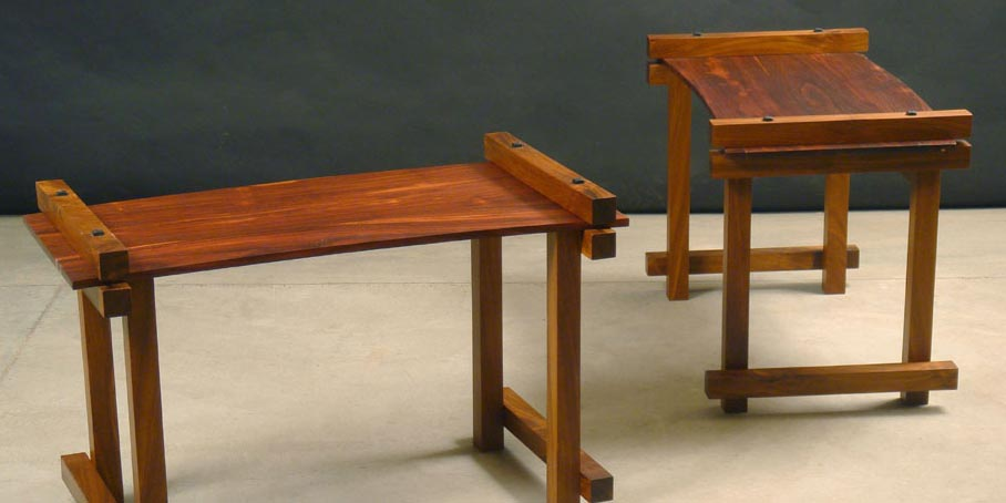 2 rosewood benches