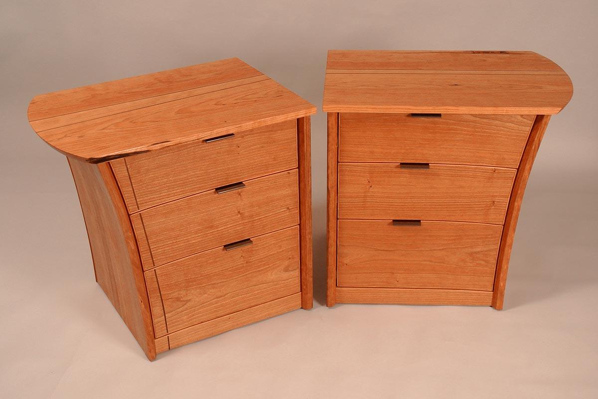 matching wood nightstands