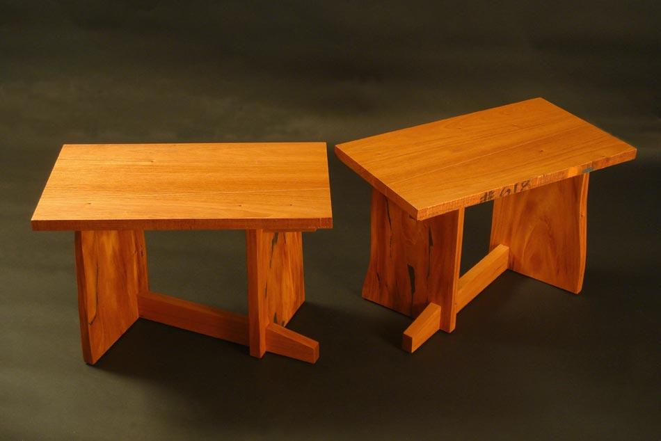 Mahogany Finelines Table/Bench Set
