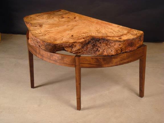 oak burl table 1