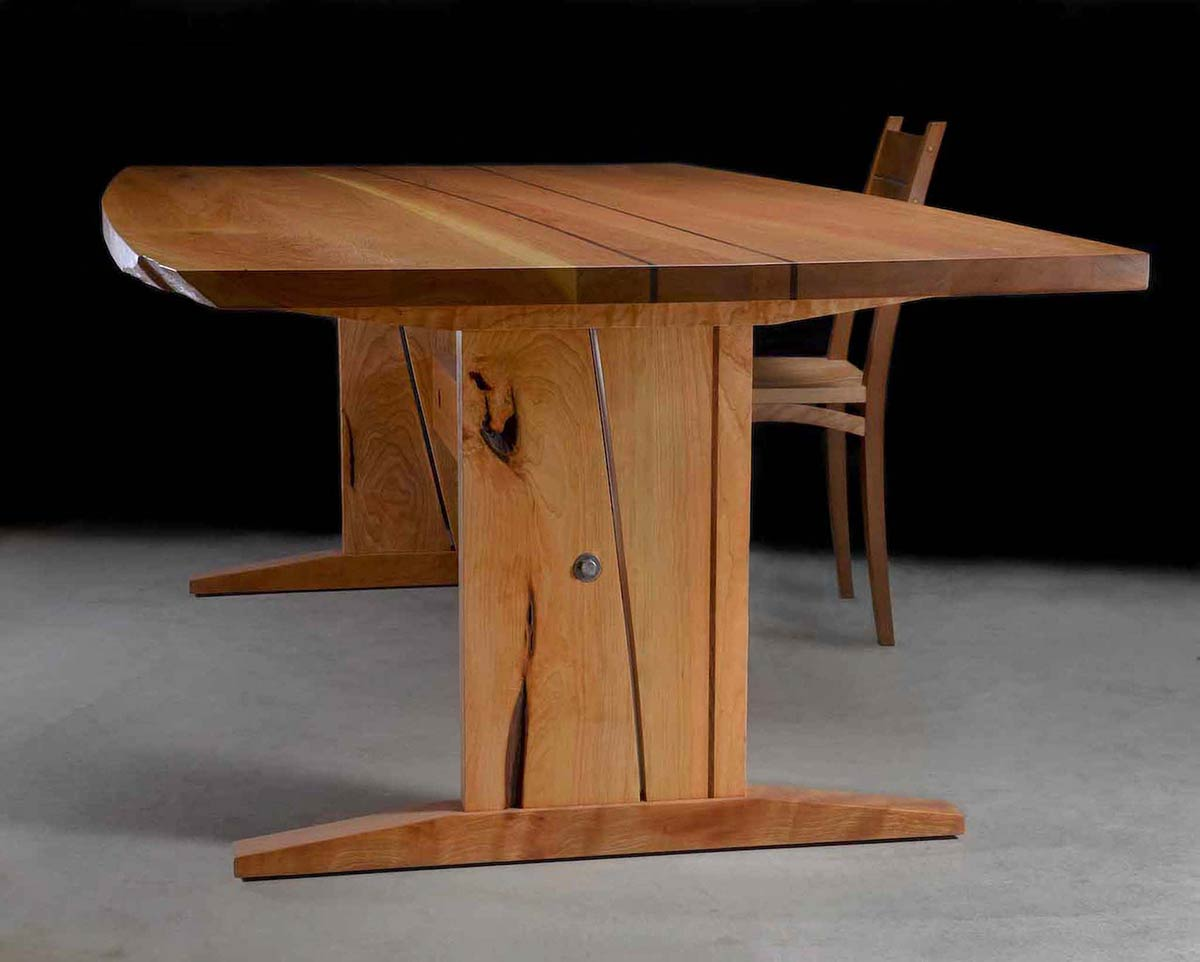 wood table and chair