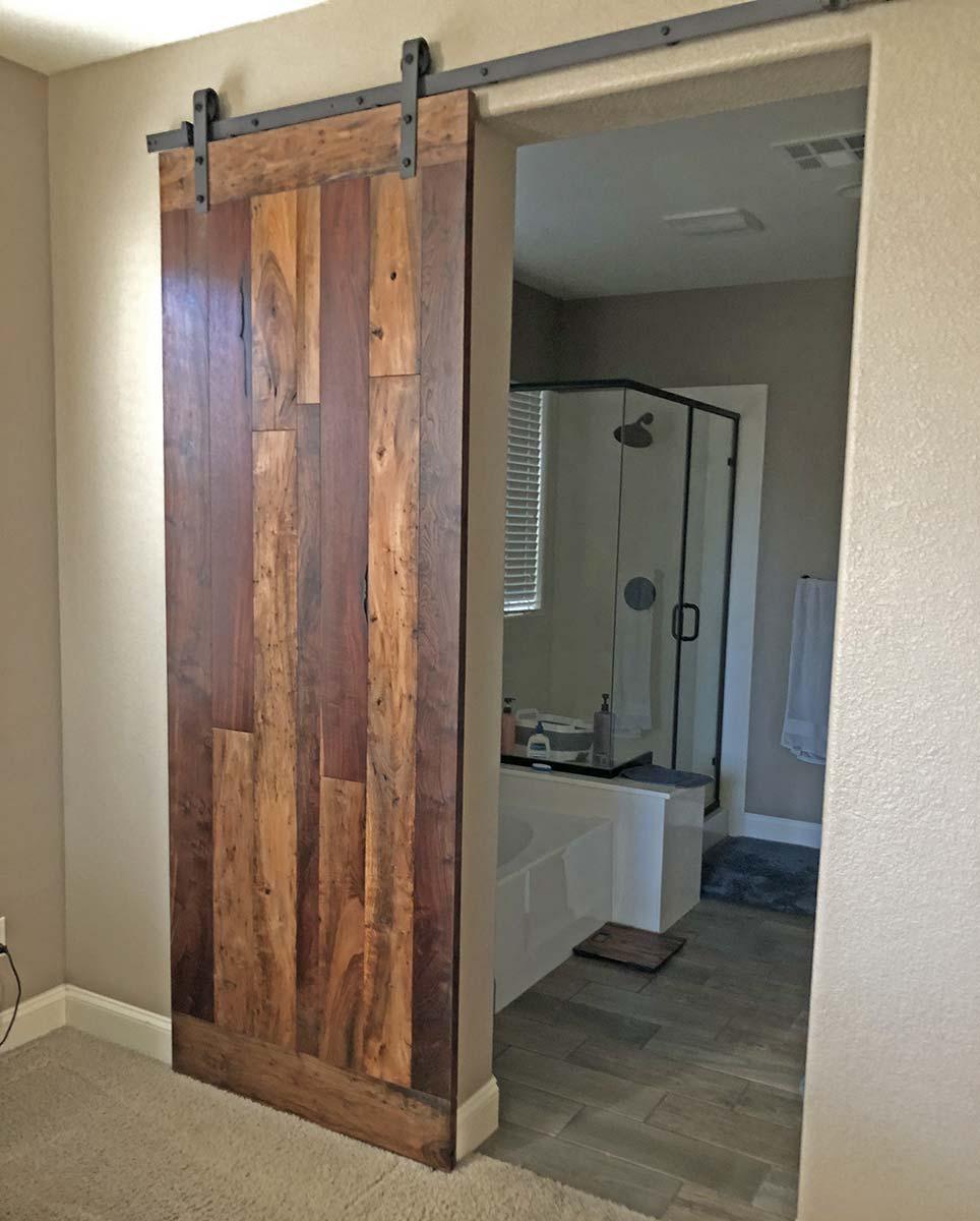 hanging wood door